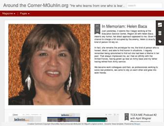 Main page screenshot of mguhlin.org