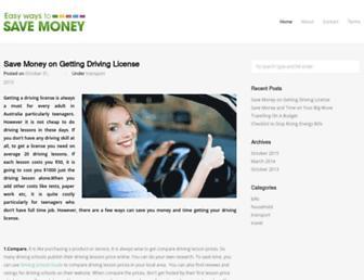 Thumbshot of Easywaystosavemoney.com.au