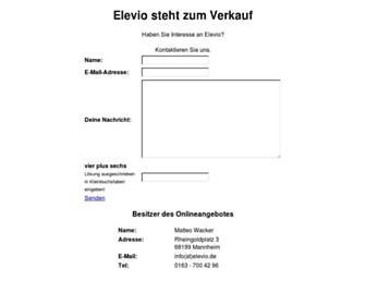 Main page screenshot of elevio.de
