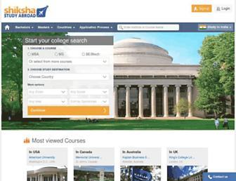 studyabroad.shiksha.com screenshot