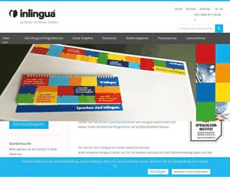 Main page screenshot of inlingua.de