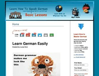 learn-german-easily.com screenshot