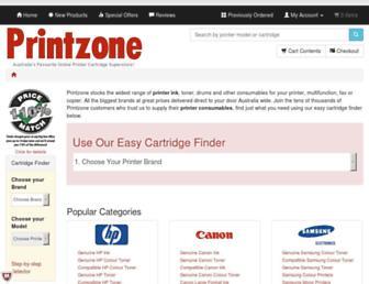 printzone.com.au screenshot