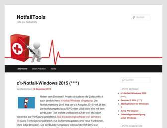 notfalltools.de screenshot
