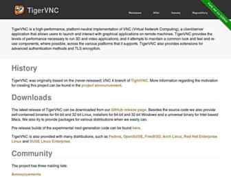 tigervnc.org screenshot