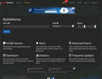 battlemetrics.com screenshot
