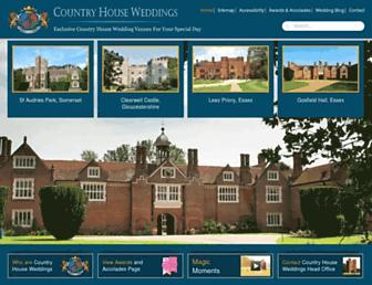 Main page screenshot of countryhouseweddings.co.uk