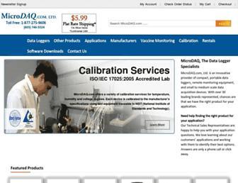 microdaq.com screenshot