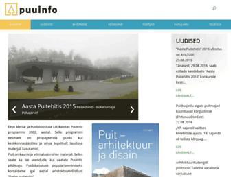 Main page screenshot of puuinfo.ee