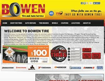 bowentire.com screenshot