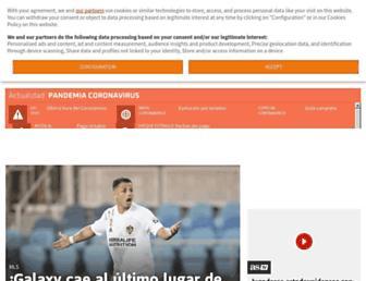 Main page screenshot of asclubdeportivo.es