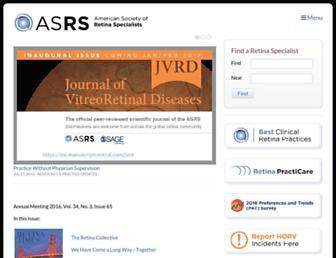 asrs.org screenshot
