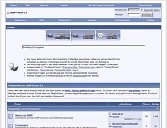 Main page screenshot of gimpforum.de
