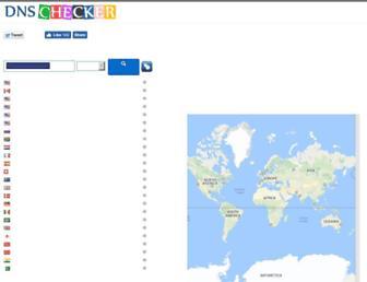 dnschecker.org screenshot