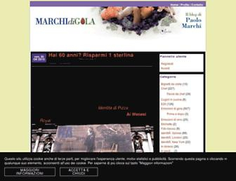 Main page screenshot of marchidigola.it