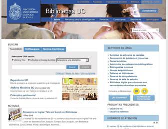 Main page screenshot of sibuc.uc.cl