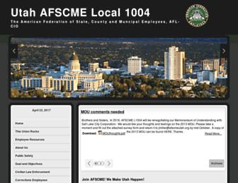 Main page screenshot of afscmeutah.org