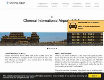 chennaiairport.com screenshot
