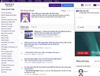 vn.answers.yahoo.com screenshot