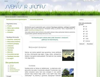 Main page screenshot of sveikasirjaunas.lt