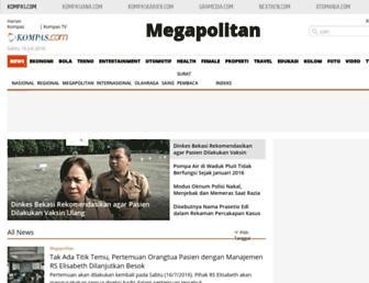 megapolitan.kompas.com screenshot