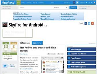 skyfire-android.en.softonic.com screenshot