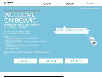 maersklineonboarding.com screenshot