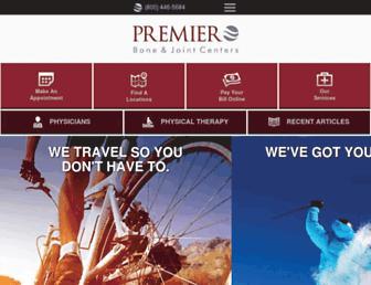 premierboneandjoint.com screenshot