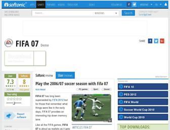 fifa-07.en.softonic.com screenshot