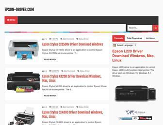 epson-driver.com screenshot