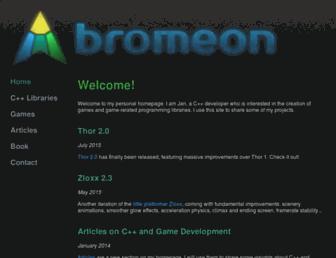 bromeon.ch screenshot