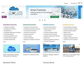 Main page screenshot of advantech.com.tw