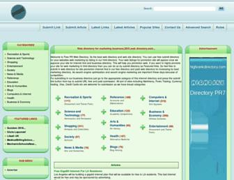 Thumbshot of Freeprwebdirectory.com