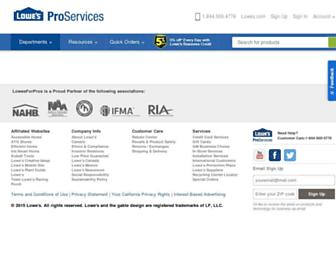 Thumbshot of Lowesforpros.com