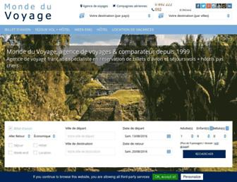 monde-du-voyage.com screenshot
