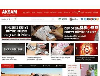 aksam.com.tr screenshot