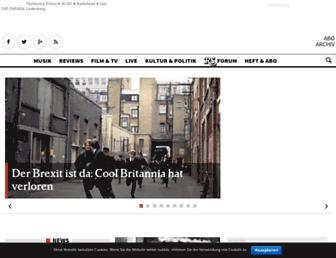 Main page screenshot of rollingstone.de
