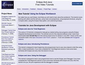 eclipsetutorial.sourceforge.net screenshot