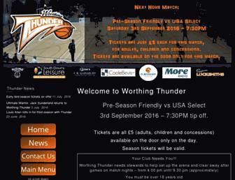 Main page screenshot of worthingthunder.net