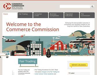 comcom.govt.nz screenshot