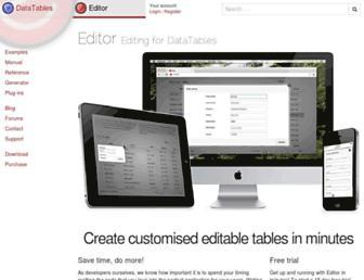 editor.datatables.net screenshot