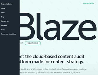 blazecontent.com screenshot