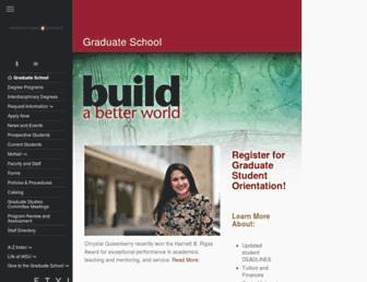 gradschool.wsu.edu screenshot