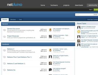 forums.netduino.com screenshot