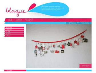Main page screenshot of blague.pl