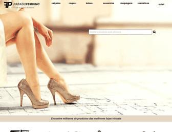 paraisofeminino.com.br screenshot