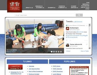 Main page screenshot of tjhsst.edu
