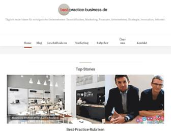 Main page screenshot of best-practice-business.de