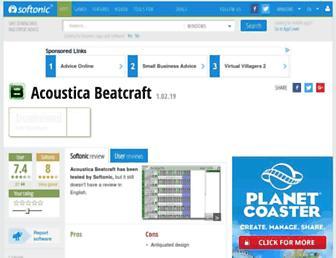 acoustica-beatcraft.en.softonic.com screenshot