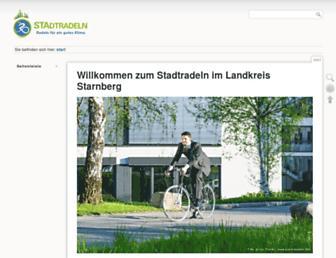 Main page screenshot of stadtradeln-sta.de